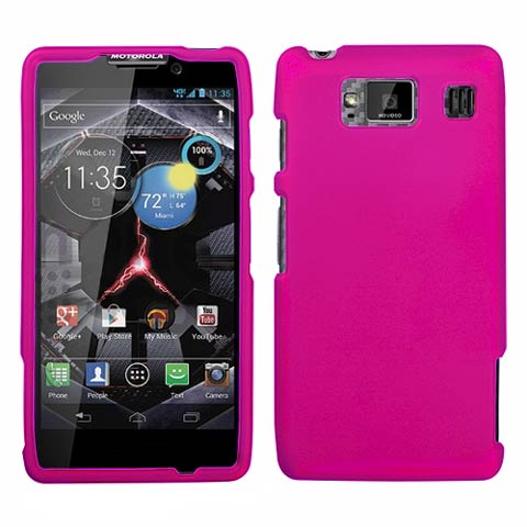 Hot Pink Rubberized Hard Case for Motorola Droid RAZR HD