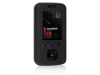 Nokia 5610 Silicone Skin Cover Case - Black