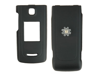 Nokia 6555 Rubberized Snap-On Faceplate Case (Black)