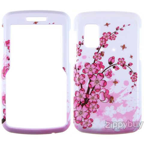Samsung Magnet A257 Hard Cover Case - Pink Flowers