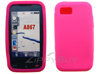 Samsung Eternity SGH-A867 Silicone Skin Cover Case - Hot Pink