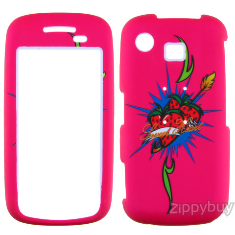 Samsung Impression A877 Rubberized Hard Cover Case - Sweet Heart
