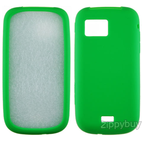 Samsung Mythic a897 Silicone Skin Cover - Green
