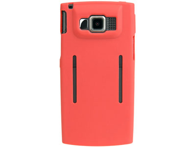 Samsung ACE SPH-i325  Silicone Skin Case (Red)