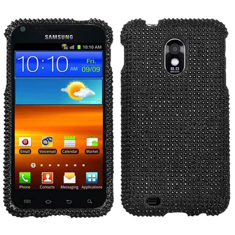 Black Crystal Rhinestones Bling Case for Samsung Epic 4G Touch