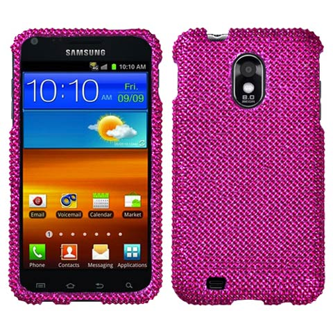Hot Pink Crystal Rhinestones Bling Case for Samsung Epic 4G Touch