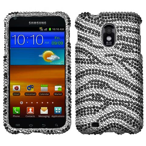 Zebra Crystal Rhinestones Bling Case for Samsung Epic 4G Touch