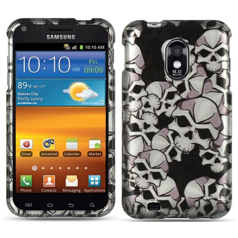 Silver Skulls Hard Case for Samsung Epic 4G Touch
