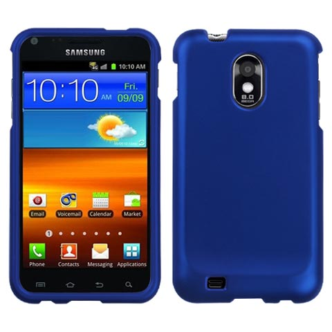 Blue Rubberized Hard Case for Samsung Epic 4G Touch
