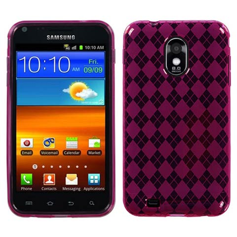 Hot Pink Argyle TPU Case for Samsung Epic 4G Touch