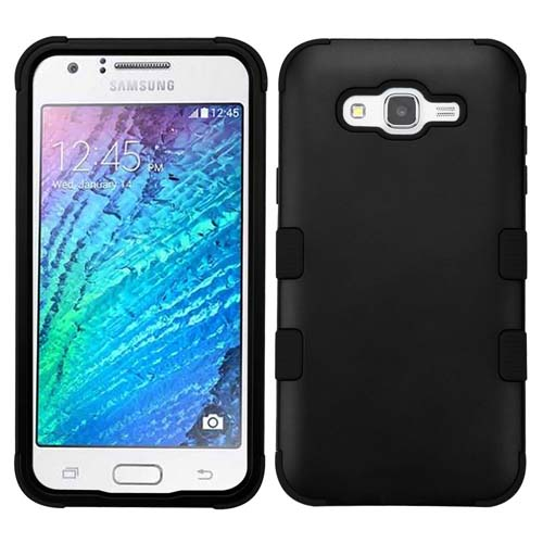 Black Synergy Hybrid Case for Samsung Galaxy J7