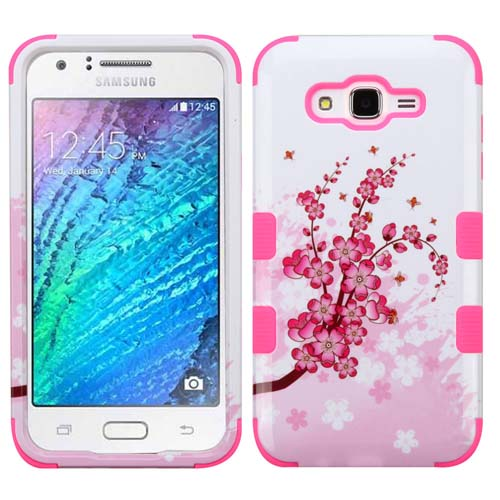 Pink Flowers Synergy Hybrid Case for Samsung Galaxy J7