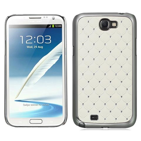 White and Chrome Dazzler Diamond Case for Samsung Galaxy Note II