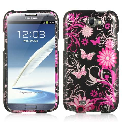 Pink Butterflies Hard Case for Samsung Galaxy Note II