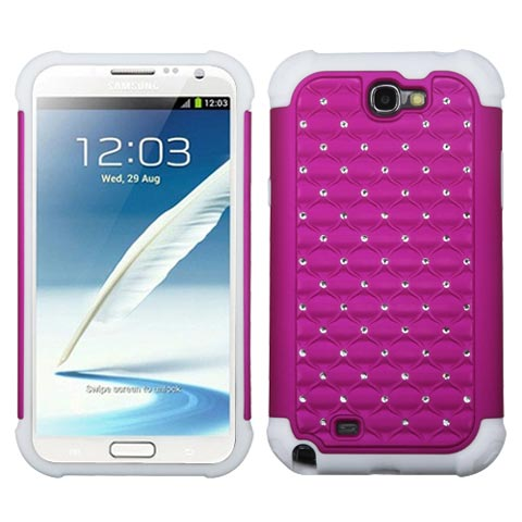Pink Hybrid Dazzler Defense Case for Samsung Note II