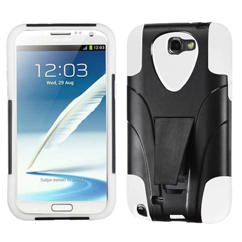 White Hybrid Inverse Armor for Samsung Galaxy Note II