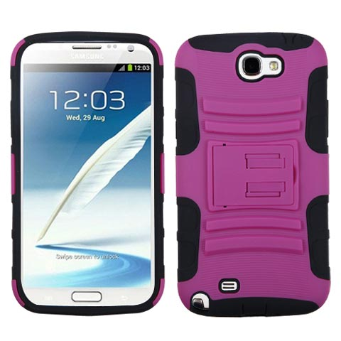 Pink Hybrid Armor Case for Samsung Galaxy Note II