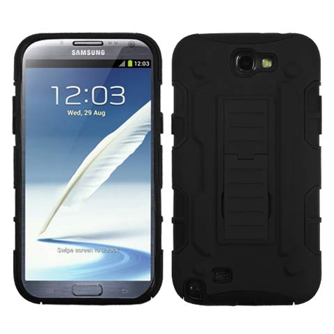 Black Hybrid Racer for Samsung Galaxy Note II
