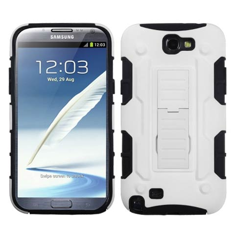 White on Black Hybrid Racer for Samsung Galaxy Note II