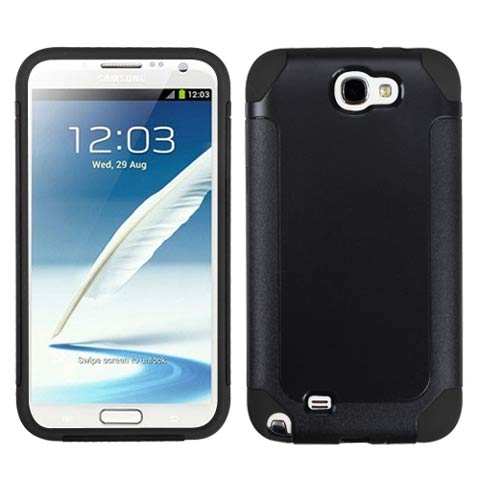 Black Hybrid Unity Case for Samsung Galaxy Note II