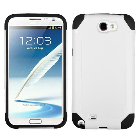 White Hybrid Unity Case for Samsung Galaxy Note II
