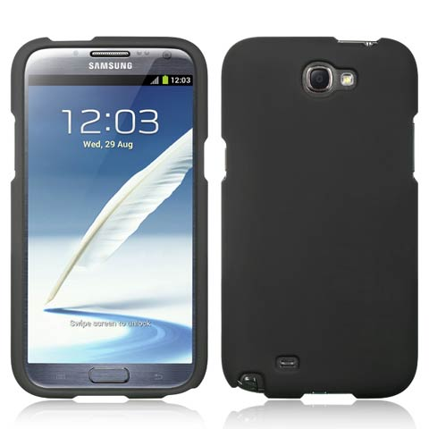 Black Rubberized Hard Case for Samsung Galaxy Note II