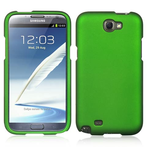 Green Rubberized Hard Case for Samsung Galaxy Note II