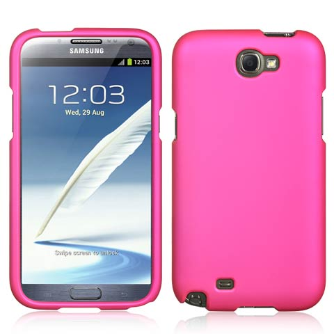 Pink Rubberized Hard Case for Samsung Galaxy Note II