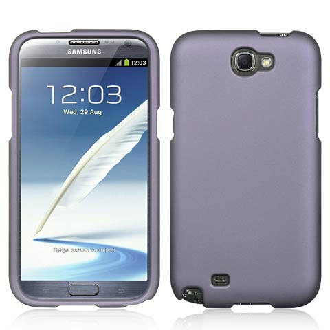 Purple Rubberized Hard Case for Samsung Galaxy Note II
