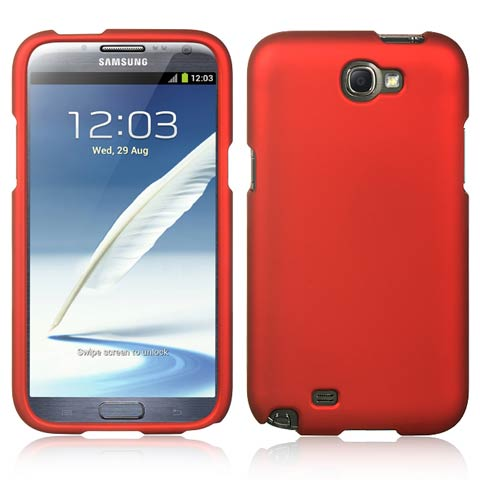 Red Rubberized Hard Case for Samsung Galaxy Note II