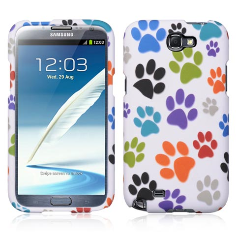 Paws Rubberized Hard Case for Samsung Galaxy Note II