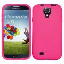 Hot Pink Silicone Cover for Samsung Galaxy S4