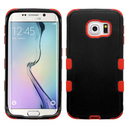 Black on Red Synergy Hybrid Case for Samsung Galaxy S6 Edge