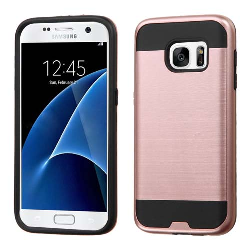 Rose Brushed Series Hybrid Case for Samsung Galaxy S7