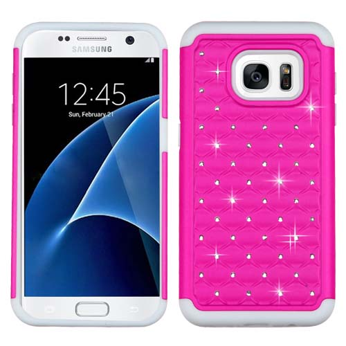 Pink Dazzler Defense Dual Layer Hybrid Case for Samsung Galaxy S7