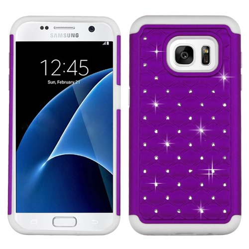 Purple Dazzler Defense Dual Layer Hybrid Case for Samsung Galaxy S7