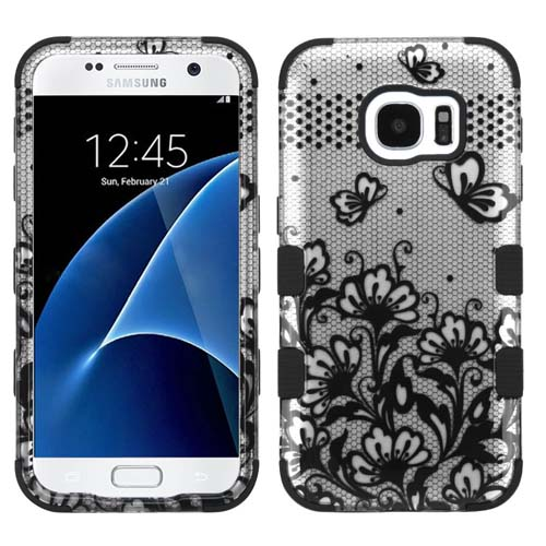 Black Lace Synergy Hybrid Case for Samsung Galaxy S7