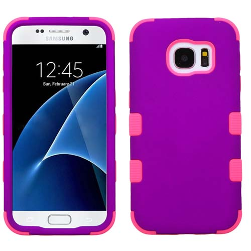 Purple and Pink Synergy Hybrid Case for Samsung Galaxy S7
