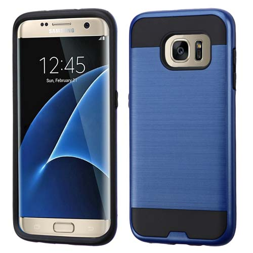 Blue Brushed Series Hybrid Case for Samsung Galaxy S7 Edge