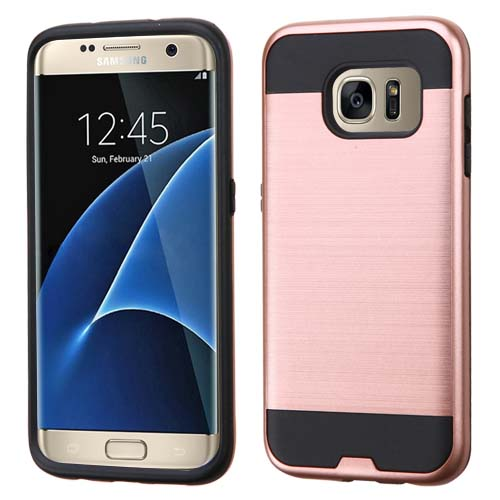 Rose Brushed Series Hybrid Case for Samsung Galaxy S7 Edge