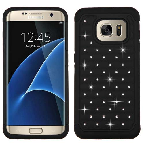 Black Dazzler Defense Dual Layer Hybrid Case for Samsung Galaxy S7 Edge