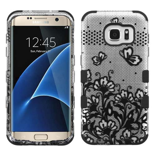 Black Lace Synergy Hybrid Case for Samsung Galaxy S7 Edge