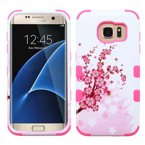 Pink Flowers Synergy Hybrid Case for Samsung Galaxy S7 Edge
