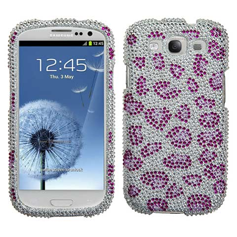 Leopard Crystal Rhinestones Bling Case for Samsung Galaxy S III Sprint