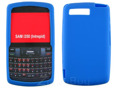 Samsung Intrepid Silicone Skin Cover Case - Blue