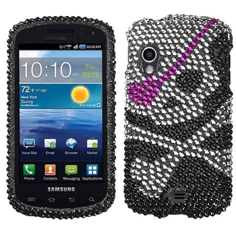 Pirate Skull Crystal Rhinestones Bling Case for Samsung Stratosphere