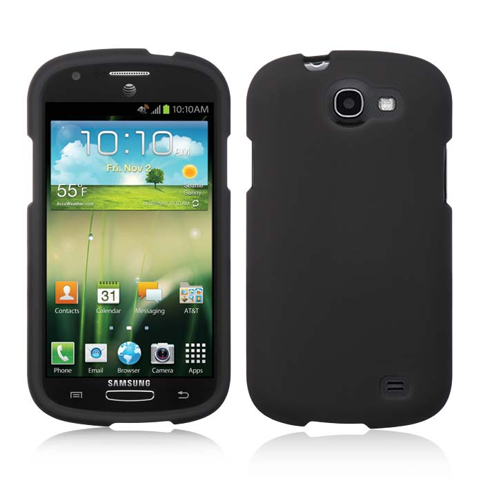 Black Rubberized Hard Case for Samsung Galaxy Express