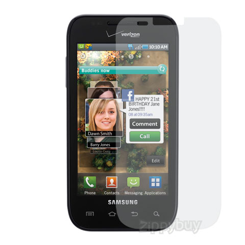 Anti-Glare Smudge Resistant Screen Protector for Samsung Mesmerize