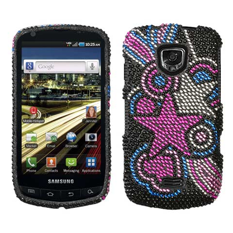 Pink Star Crystal Rhinestones Bling Case for Samsung Droid Charge