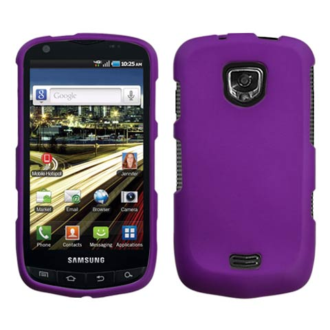 Purple Rubberized Hard Case for Samsung Droid Charge